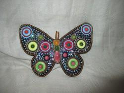 Pillangó bross ,kitűző 13,5 x 9,5 cm.