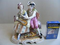 Volkstedt porcelán Rudolf Kammer - Udvarló pár 17,5cm