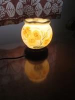Keleti kerámia éjjeli lámpa, hangulatos, kézzel festett képpel, aromaolaj párologtatóval