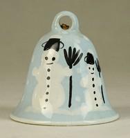 7574 Kerámia porcelán csengő csengettyű