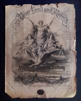 Über Land und Meer gróf Dezseöffy János viaszpecsétjével, 1880