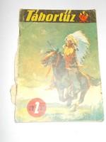 Retro nosztalgia szocreál Tábortűz 1957. március újság