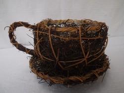 Csésze - Óriás - vessző kaspó, virágtartó, 24 x 14 cm