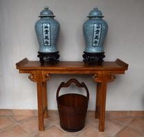 Máz alatti kék festésű, kínai váza pár!