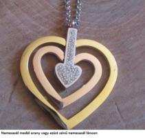 Nemesacél medál és arany vagy ezüst színű nemeacél láncon