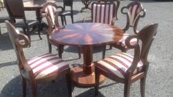 Biedermeier asztal 4db szék