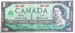 1 Kanadai Dollár 1967 AUUNC