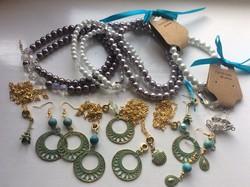 Ékszer csomag - kézműves ékszerek, divatékszerek, gyöngysorok