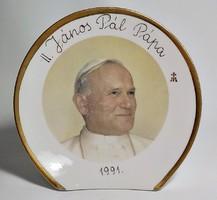 II. János Pál Pápa emlék asztali dísztárgy