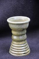 Zöld mázas kerámia váza