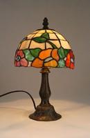 0Q136 Tiffany burás réz asztali lámpa 33 cm