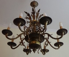 Brutálisan gyönyörű Rococo Stílusú  öntvény szalon csillár