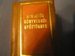 U5 Miniatűr könyvek ,Török áfium elleni orvosság ritkaságok