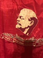 Kétoldalas Lenin zászló eladó!Ara:12000.-