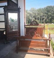 Gyönyörű,dúsan faragott antik reneszánsz hálószoba garnitúra!
