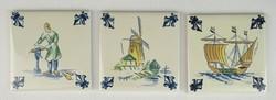 0S184 DELFT porcelán csempe KLM reklám relikvia