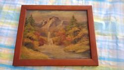 Régi kis kép N. Sz.szignóval nyomat vagy festmény