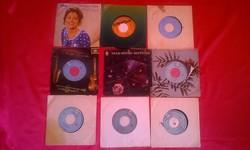 Bakelit lemez gyűjtemény 45 db