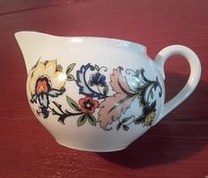 Zsolnay porcelán tej-tejszínkiöntő , ritka, perzsa mintás jellegű díszítéssel, különleges jelzéssel