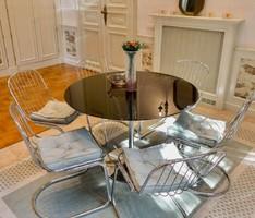 Svéd 6 személyes étkező asztal székekkel