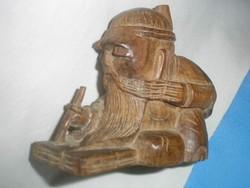 U2 Netsuke antik Chinai fa szobor az írástudó ritkaság