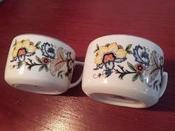 Különösen ritka szecessziós  mintájú Zsolnay 2 db porcelán csésze,pohár