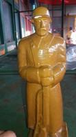 Világháborús katonai gipsz szobor
