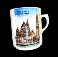 Szegedi Fogadalmi templom Zsolnay emlék csésze ritkaság