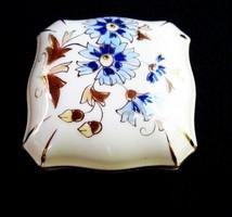 Zsolnay búzavirág mintás bonbonier