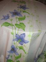 Csodaszép különleges kék virágos fehér hatalmas sötétítő függöny