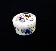 Zsolnay búzavirág mintás ékszerdoboz