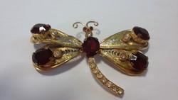 Szép régi nagy pillangó bross kitűző
