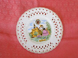 Francia  porcelán gyűrűs tányér, dísztányér