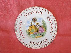 Francia  porcelán  tányér, dísztányér
