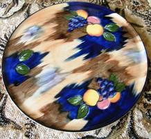 Angol, Csodálatosan szép porcelán tálca, tál 29 cm