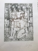 Kass János rézkarc, Bibilai jelenet