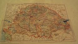 TÉRKÉPGYŰJTŐK !---RÉGI térkép---Magyarország politikai térképe 1918-ban.