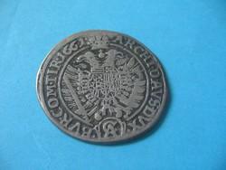 I Lipót Ezüst XV Krajcár 1661 Osztrák veret