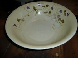 Nagyon régi, különleges, szép, antik festett porcelán mosdótál