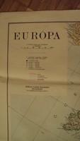 TÉRKÉPGYŰJTŐK ! - EURÓPA RÉGI térképe - /102 x 82 cm/