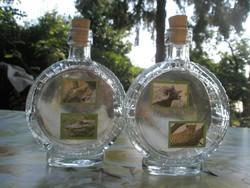 Flaska-pálinkás üveg-palack állatmotívumokkal