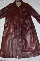 Bőrkabát ( ritka hosszú fazonú, ritka színű, nagy méretű )