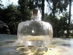 Új-Hordó formájú pálinkás-boros üveg-palack-díszüveg 0,5 l