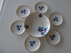Retro porcelán süteményes készlet, Winterling Bavaria