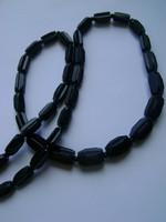 Antik  ART DECO fekete  labradorit nyaklánc 125 karát kő nagyon igényes