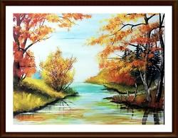 """Czinóber - """"Amikor rákacsint az ősz"""" ( 40 x 30 )"""