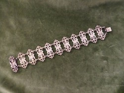 Antik ezüst ötvös karlánc / karkötő