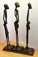 Afrikai bennszülött bronz szoborcsoport, gyűjteménybe való ritkaság