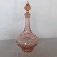 Régi lazacszinű üveg kiöntő
