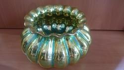 Csodaszép Zsolnay eozin kaspó/váza különlegesen bordázott hibátlan
